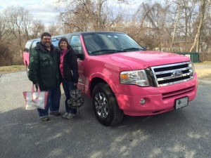 Pink Limo Ford Expedition