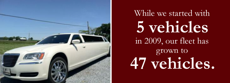 luxury car services with limousines and other vehicles