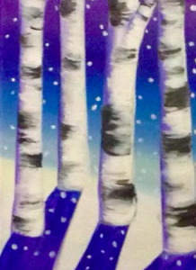 snowy-treetrunks