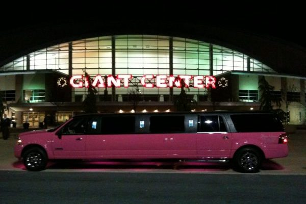 Pink Limo At Hershey Giant Center for Concert